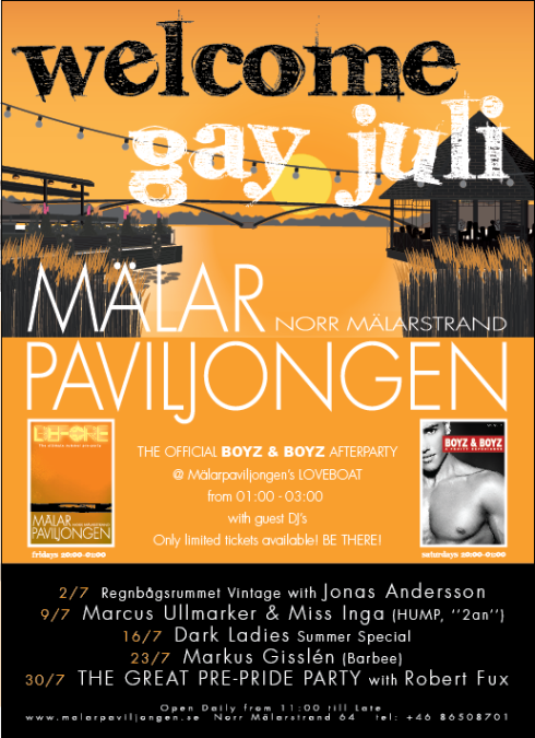 gay stockholm, mälarpaviljongen